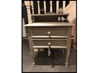 ANNIE SLOAN PAINTED TWO DRAWER CABINET/DESK