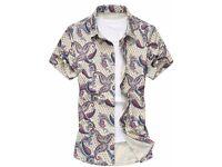 Slim Fit Men's Floral Shirt - XL