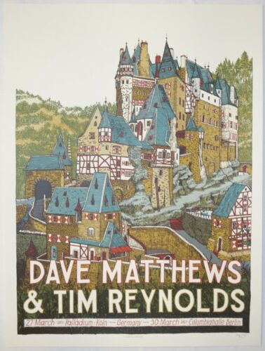 2017 Dave Matthews & Tim Reynolds - Koln & Berlin Concert Poster by Landland S/N