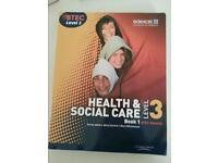 HEALTH & SOCIAL CARE LEVEL 3 BTECH BOOK