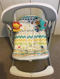 Fisherprice Colourful Carnival Take along Baby swing