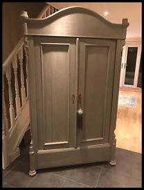 ANNIE SLOAN PAINTED SHABBY CHIC SOLID PINE FRENCH STYLE DOUBLE WARDROBE