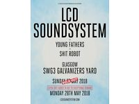 2 x TICKETS £75 - LCD SOUNDSYSTEM MON 28 MAY GLASGOW