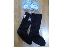 Beaver Titanium Long Aqua Socks - UK Size 12