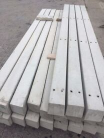 clearance concrete twin hole posts 6ft pack 10 inc local delivery