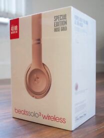 Beats limited edition headphones. Solo wireless in rose gold. Never been opened