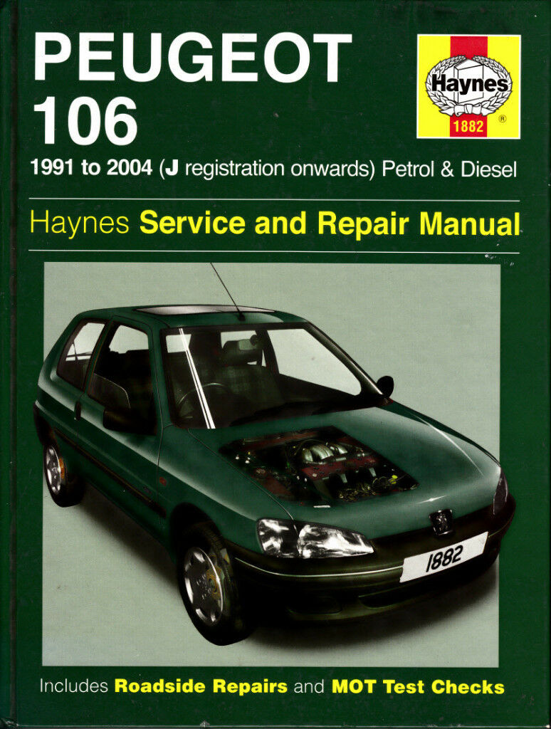HAYNES PEUGEOT 106 SERVICE & REPAIR MANUAL 1991 - 2004 PETROL & DIESEL