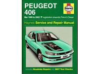 HAYNES PEUGEOT 406 MANUAL PETROL & DIESEL 1999 - '02