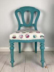Beautiful Chair with owl fabric!