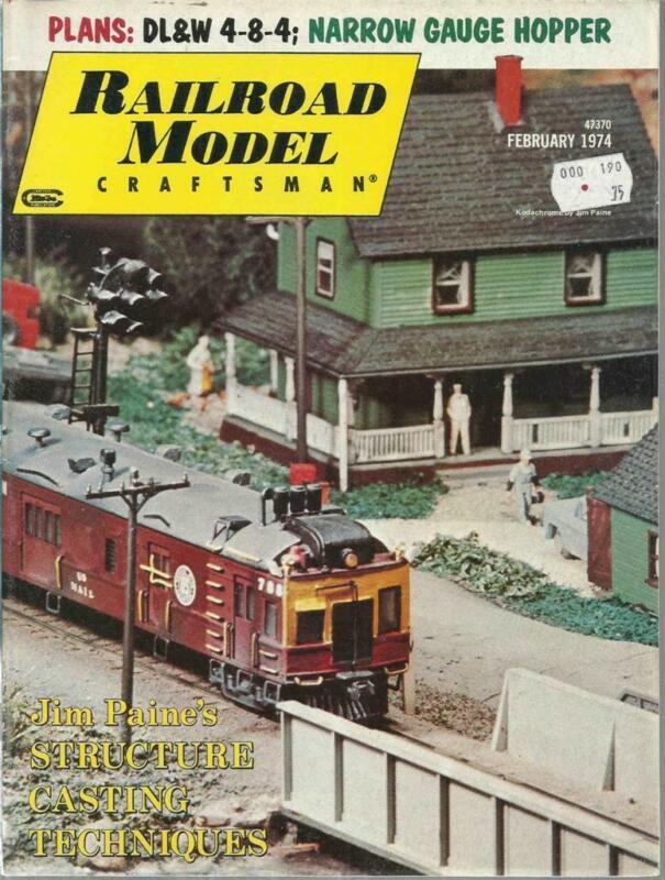 Railroad Model Craftsman February 1974 DL&W 4-8-4 & 35-Ton Triple Hopper Drawing