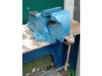 """Record No 25 Engineers Vice 6"""" Jaws Heavy Duty Quick Release Fitters Bench Vise"""