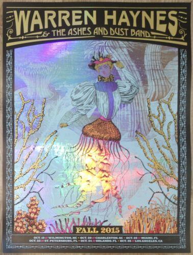 2015 Warren Haynes - Fall Tour Foil Variant Concert Poster by Nate Duval