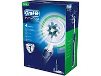 ORAL-B Pro 4000 3D Action Toothbrush, with new / spare heads