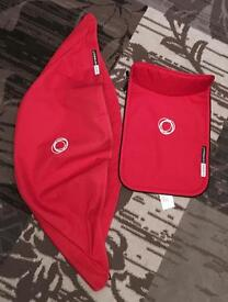 Bugaboo Cameleon 3 covers in red- canvas VGC