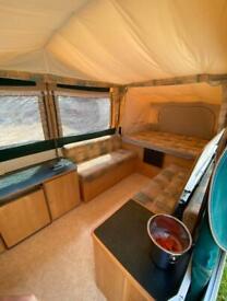 Tent trailer camping caravan
