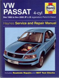HAYNES VOLKSWAGEN PASSAT VW MANUAL FROM DEC 1996 TO NOV 2000 PETROL & DIESEL