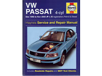 HAYNES VOLKSWAGEN PASSAT VW MANUAL FROM DEC 1996 TO NOV 2000 PETROL & DIESEL