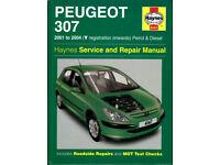 HAYNES PEUGEOT 307 MANUAL 2001- 2004 PETROL & DIESEL MODELS