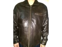 Used Chevignon Leather Jacket for men - XL Europe size fit for L UK size - French Brand - £80