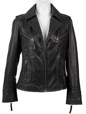Hazel Black Bikers Jacket