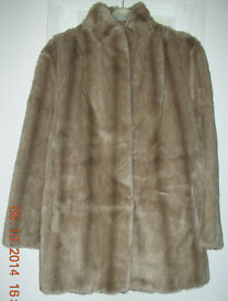 Faux Fur jacket size 10-12