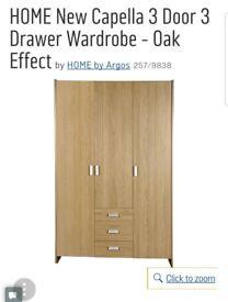 3 door, 3 drawer Wardrobe