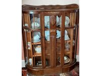 Vintage Display Cabinet/ China Cabinet