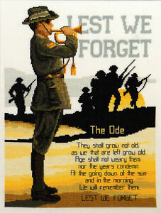 LEST WE FORGET CROSS STITCH KIT ~ COUNTRY THREADS