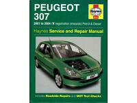 HAYNES PEUGEOT 307 2001- 2004 PETROL & DIESEL