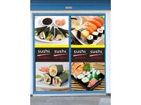 A Busy Sushi Takeway is on urgent sale.