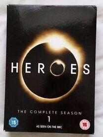 Heroes Seasons 1 & 2 DVD Box Sets.