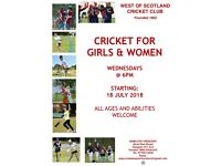 Women and Girls Cricket at West of Scotland