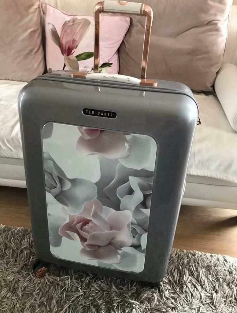 reliable quality the best catch Ted Baker Porcelain Rose Medium Suitcase silver luggage suit case   in  Stevenage, Hertfordshire   Gumtree