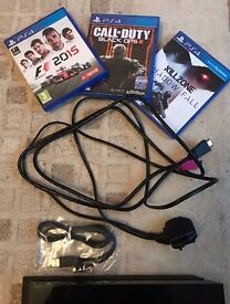 Sony Playstation 4 PS4 500GB HDD Jet Black + Controller + 3 games (F1 2015, Call of Duty & Killzone)