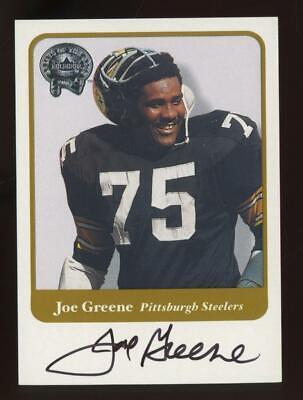 2001 Fleer Great of the Game Joe Greene Auto Autograph
