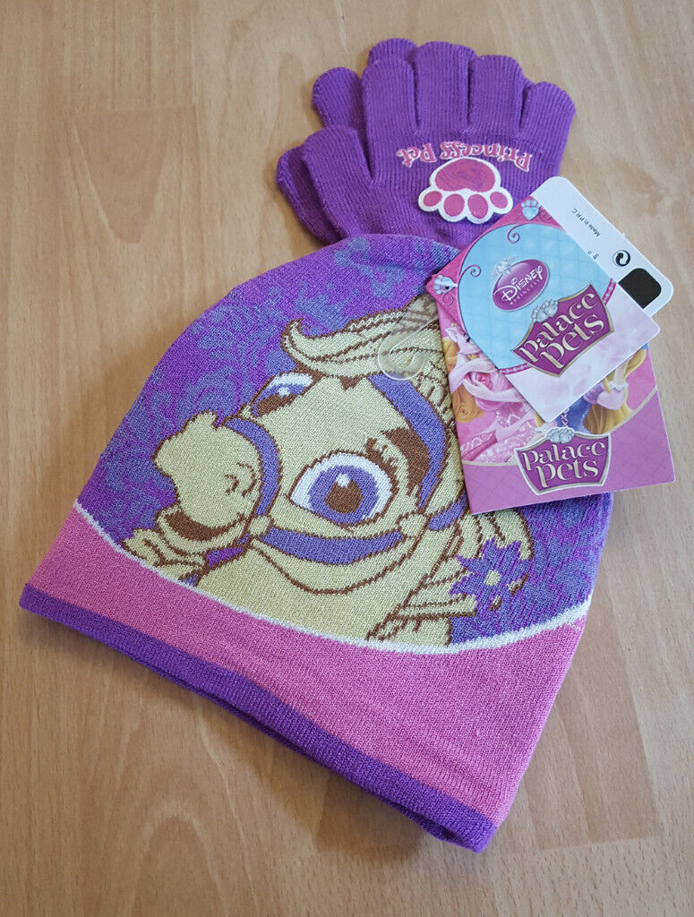 694b48c8406 Disney Palace Pets Purple Pony Blondie Winter Hat   Gloves Accessory Set -  NEW!