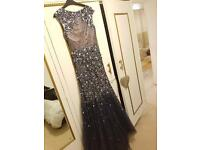 navy jewelled prom/evening dress
