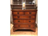 Reproduction Solid Yew Wood Two Over Three Drawer Chest of Drawers