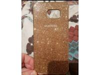 Samsung s6 edge+ hard case - Glitter Gold