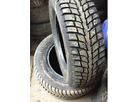 Three Part worn winter tyres 175 70 13