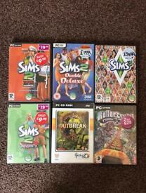 SIMS 2 + Expansion Packs, SIMS 3 + 3 More PC Games!