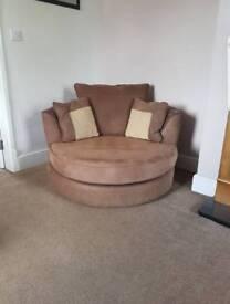 Large swivel chair / cuddle chair
