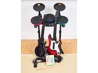 Xbox Guitar Hero Bundle - drums, two guitars etc