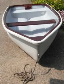 Rowing Boat Dinghy Tender with Road Trailer... Needs Hull Glossing (Paint supplied)