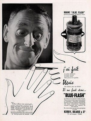 1937 A AD FRENCH BOBINE  BLUE FLASH BIRBY BEARD CONNECTICUT CORP DISTRIBUTOR