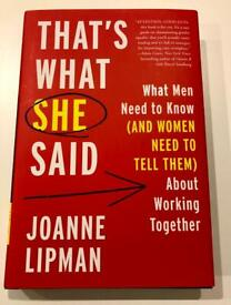 BRAND NEW Book - That's What She Said