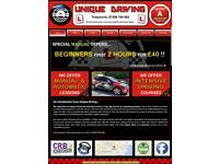 DRIVING LESSONS AND INTENSIVE DRIVING COURSES