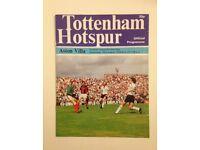 Official Football Programme, Tottenham Hotspur v Aston Villa, League Division One 1978