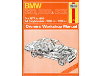 HAYNES BMW 320 320i and 323i SERVICE REPAIR MANUAL 1977 - 1985