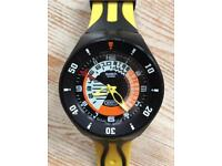 SWATCH FARFALLINO GIALLO SCUBA WATCH